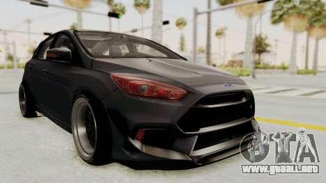 Ford Focus RS 2017 Rocket Bunny para la visión correcta GTA San Andreas
