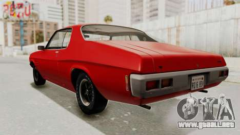 Holden Monaro GTS 1971 SA Plate IVF para GTA San Andreas vista posterior izquierda