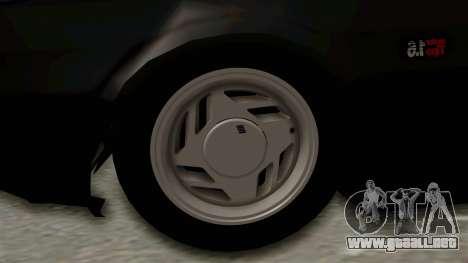 Fiat Uno para GTA San Andreas vista hacia atrás