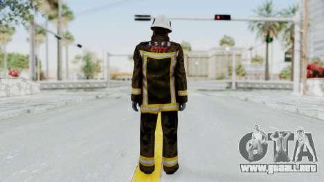 GTA 5 Fireman SF para GTA San Andreas tercera pantalla