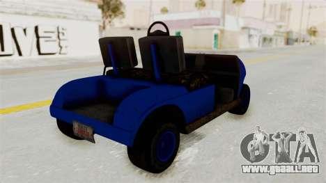 GTA 5 Gambler Caddy Golf Cart IVF para GTA San Andreas left
