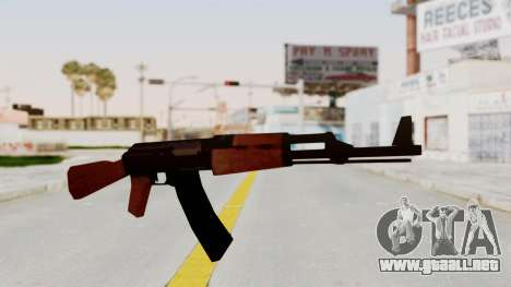Liberty City Stories AK-47 para GTA San Andreas segunda pantalla
