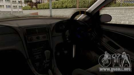 Ford Mustang 1999 Rusty Rebel para visión interna GTA San Andreas