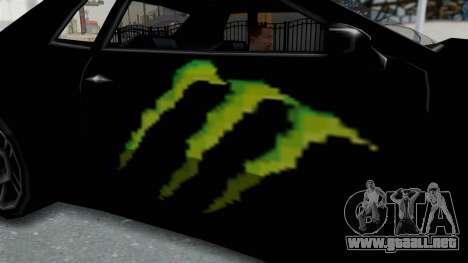 Monster Elegy para GTA San Andreas vista hacia atrás