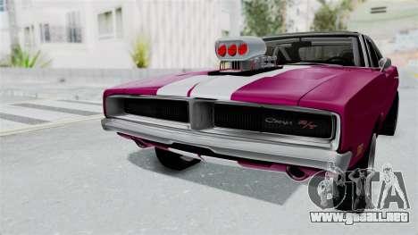 Dodge Charger 1969 Drag para la visión correcta GTA San Andreas