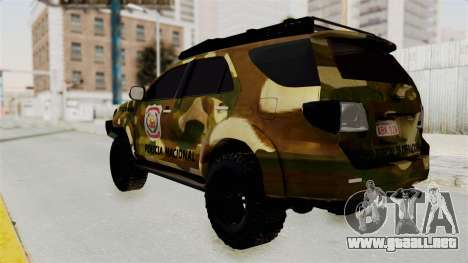 Toyota Fortuner 4WD 2015 Paraguay para GTA San Andreas left