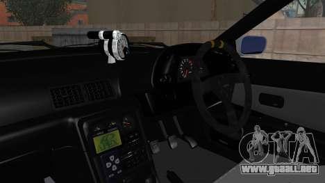 Nissan Skyline BNR32 Hot Version para visión interna GTA San Andreas