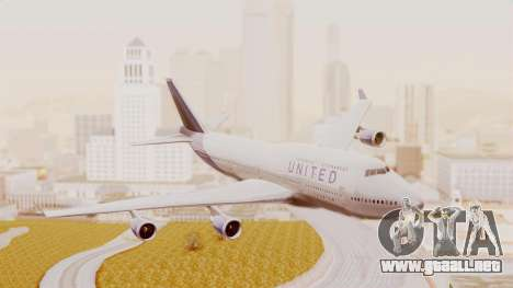 Boeing 747-400 United Airlines para GTA San Andreas