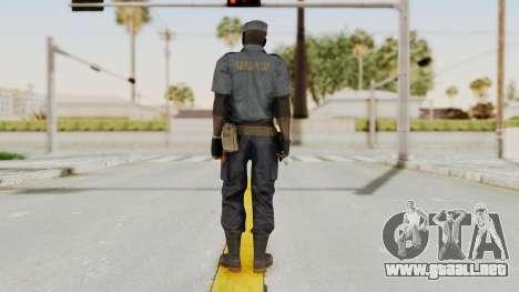 MGSV Phantom Pain Zero Risk Security Combat v1 para GTA San Andreas tercera pantalla