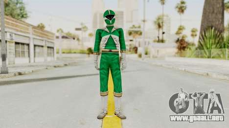 Power Rangers Lightspeed Rescue - Green para GTA San Andreas segunda pantalla