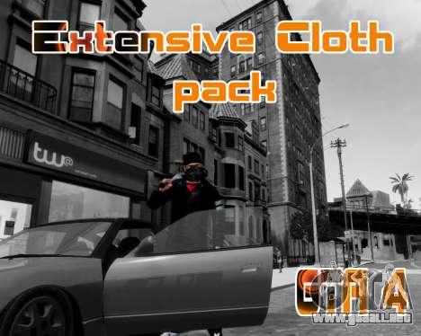 Extensive Cloth Pack for Niko 1.0 para GTA 4
