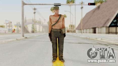 MGSV Phantom Pain Rogue Coyote Soldier Naked v1 para GTA San Andreas segunda pantalla