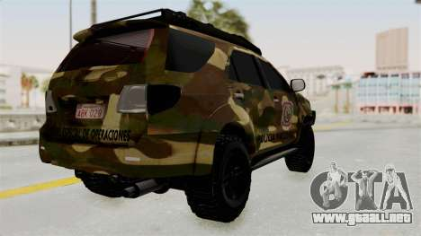 Toyota Fortuner 4WD 2015 Paraguay para la visión correcta GTA San Andreas