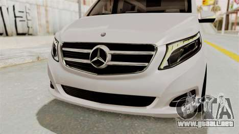 Mercedes-Benz V-Class 2015 para vista inferior GTA San Andreas