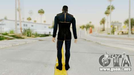 Mass Effect 3 Shepard Formal Alliance Uniform para GTA San Andreas tercera pantalla