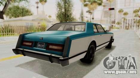 GTA 5 Dundreary Virgo Classic IVF para GTA San Andreas left