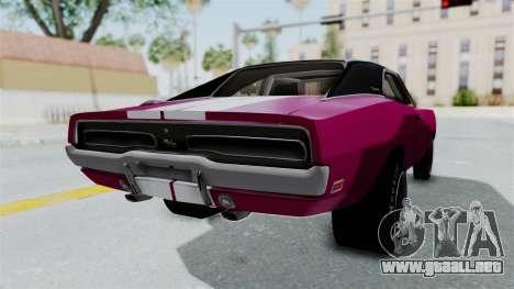 Dodge Charger 1969 Drag para GTA San Andreas left