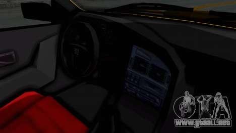 Peugeot Pars Full Sport para visión interna GTA San Andreas