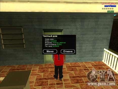 Fichas de hogares para la ARP para GTA San Andreas segunda pantalla
