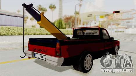 Mazda Tow Truck Pickup para GTA San Andreas left