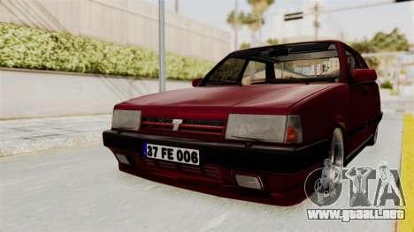 Tofas Dogan 1.6 para la visión correcta GTA San Andreas