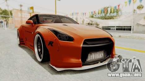 Nissan GT-R R35 Liberty Walk LB Performance para la visión correcta GTA San Andreas