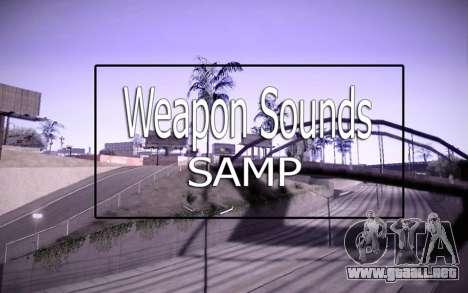 Weapon Sounds para GTA San Andreas