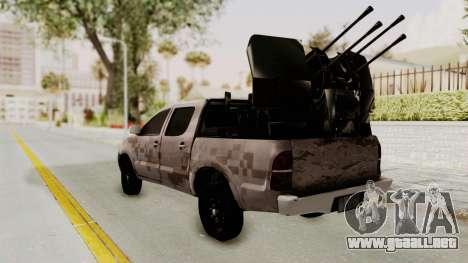 Toyota Hilux 2014 Army Libyan para GTA San Andreas left