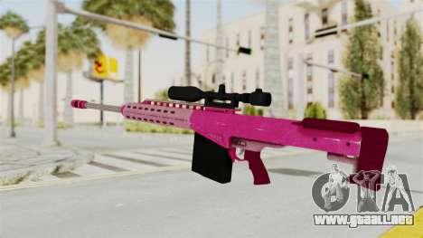 GTA 5 Heavy Sniper Pink para GTA San Andreas segunda pantalla