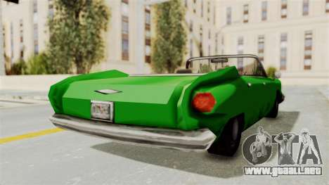 Glendale XS para GTA San Andreas vista posterior izquierda