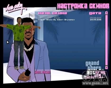 Weed T-Shirt para GTA Vice City tercera pantalla