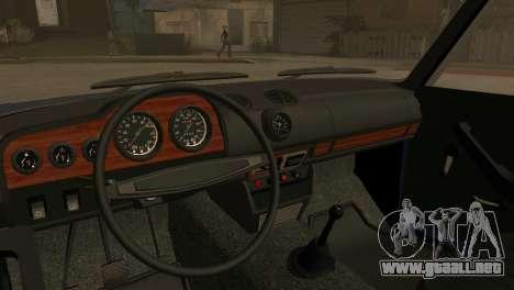 VAZ 2103 para GTA San Andreas vista hacia atrás
