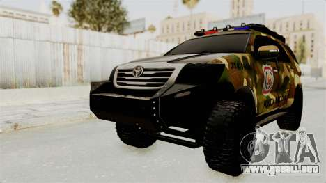 Toyota Fortuner 4WD 2015 Paraguay para GTA San Andreas