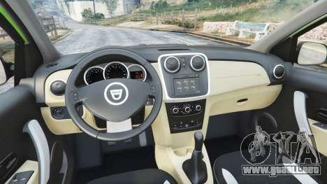GTA 5 Dacia Sandero Stepway 2014 vista lateral trasera derecha