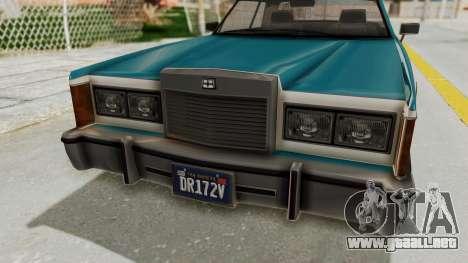 GTA 5 Dundreary Virgo Classic IVF para GTA San Andreas vista hacia atrás