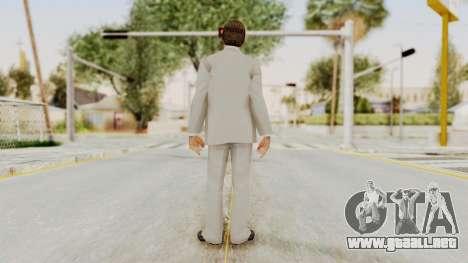 Scarface Tony Montana Suit v1 with Glasses para GTA San Andreas tercera pantalla