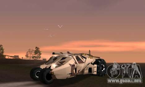 Army Tumbler Gun Tower from TDKR para GTA San Andreas interior
