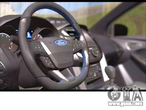 Ford Focus RS 2017 para GTA San Andreas vista hacia atrás