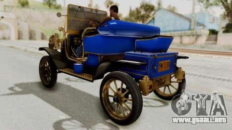 Ford T 1912 Open Roadster v2 para GTA San Andreas vista posterior izquierda