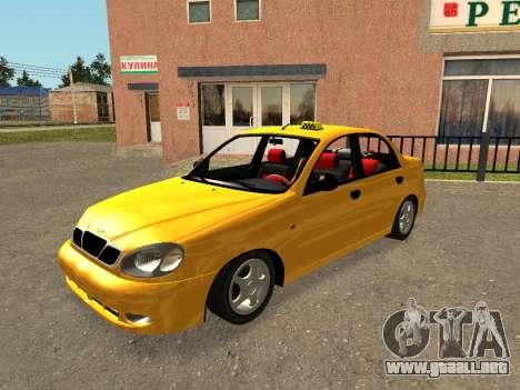 Daewoo Lanos (Sens) 2004 v1.0 by Greedy para el motor de GTA San Andreas