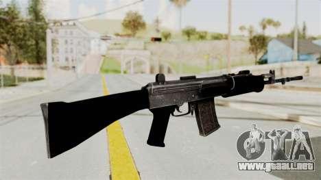 IOFB INSAS Plastic Black Skin para GTA San Andreas segunda pantalla
