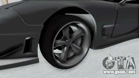 Mazda RX-7 FD3S HellaFlush para GTA San Andreas vista hacia atrás