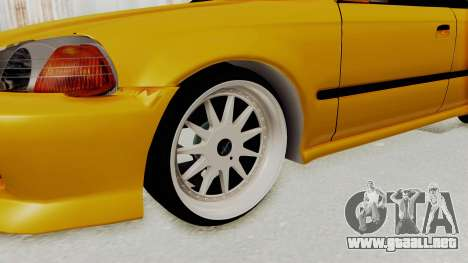 Honda Civic Vermidon para GTA San Andreas vista hacia atrás