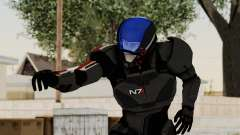 ME2 Shepard Default N7 Armor with Capacitor Helm para GTA San Andreas