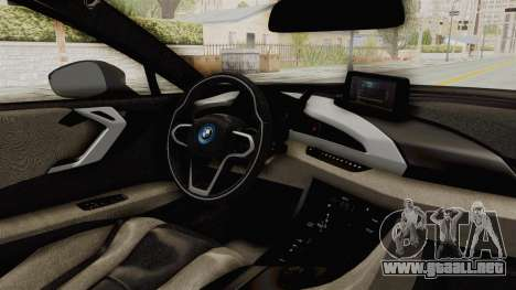 BMW i8-VS 2015 para visión interna GTA San Andreas