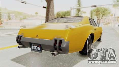 GTA 5 Declasse Sabre GT2 B IVF para la visión correcta GTA San Andreas