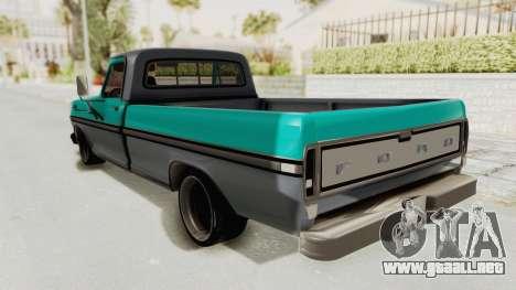 Ford F-150 Black Whells Edition para GTA San Andreas left