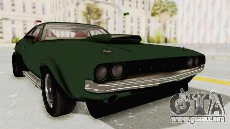Dodge Challenger 1971 para GTA San Andreas vista posterior izquierda