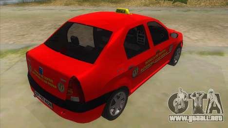 Dacia Logan Scoala para la visión correcta GTA San Andreas