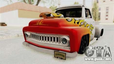 GTA 5 Slamvan Lowrider PJ1 para vista lateral GTA San Andreas